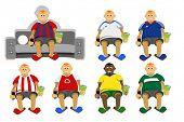 Постер, плакат: Футбольные болельщики разных стран