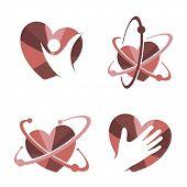 Collection Of  Heart Icon Vector Logo. Heart Logo, Heart Shape. Love Logo Concept,heart Logo, Heart  poster