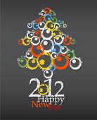 picture of new years celebration  - New year abstract tree - JPG