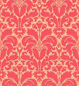 image of french curves  - Seamless baroque style damask background - JPG