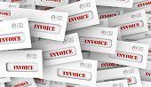 Invoice Bill Payment Due Envelopes 3d Illustration poster