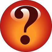 picture of question-mark  - red question mark web button or icon - JPG