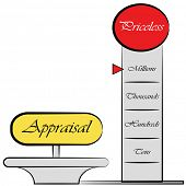An image of am appraisal meter drawing.