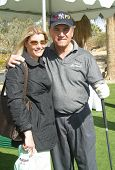 PALM SPRINGS - FEB 7: Tony Lobianco, wife at the 15th Frank Sinatra Celebrity Invitational Golf Tour