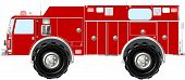 picture of monster-truck  - A fictional monster fire fighting and rescue truck - JPG