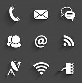 Modern Communication Signs On Dark Gray