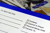 Business income banking transfer slip