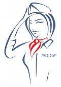 stock photo of air hostess  - Air hostess - JPG