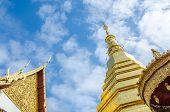 foto of cho-cho  - Golden Pagoda at Wat Phra That Cho Hae  - JPG