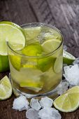 Glass Of Caipirinha With Crushed Ice