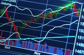 picture of peek  - close up photograph of stock market chart - JPG
