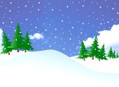 picture of weihnacht  - Image of snowing and christmas tree in a forest - JPG