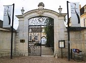 Entrance to Chateau de Pommard, France