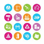 pic of habilis  - set of 16 construction icons set - JPG
