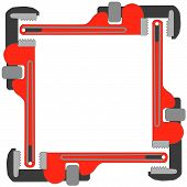 image of pipefitter  - pipe wrench photo frame - JPG