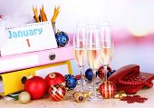 stock photo of bing  - New Year party at office close - JPG