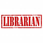stock photo of librarian  - Grunge rubber stamp with text Librarian - JPG