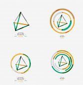 pic of triangular pyramids  - Pyramid shape line design - JPG