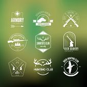 image of duck-hunting  - Hunting club label collecton made in vector - JPG