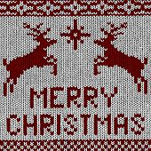 picture of rudolph  - vector Christmas Background of Norwegian Knitting Patterns - JPG