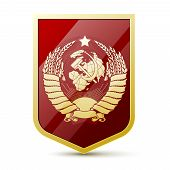foto of hammer sickle  - Coat of arms Soviet Union - JPG