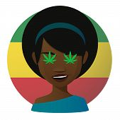 foto of rastafari  - Illustration of an isolated avatar with marijuana leafs - JPG
