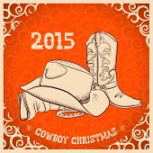 Постер, плакат: Western New Year With Western Boots And Western Hat