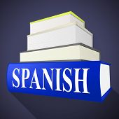 Постер, плакат: Books Spanish Means Translate To English And Dialect