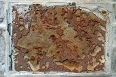 stock photo of fieldstone-wall  - Pattern on a rusty wall - JPG