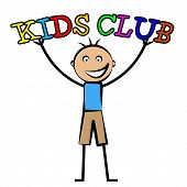 image of youngster  - Kids Club Showing Free Time And Youngsters - JPG