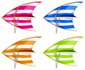 picture of glider  - Set of 4 colorful hang gliders - JPG