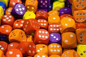 picture of crap  - Nice background from multicolored wood colorful dice  - JPG