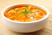 pic of green pea  - Pumpkin with green bean and snap pea red curry - JPG