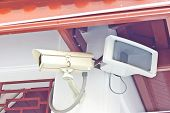 picture of cctv  - the cctv camera in city for security - JPG