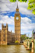image of british culture  - Big Ben at summer in London - JPG