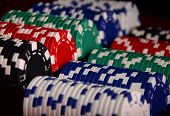 picture of roulette table  - Stack of chips - JPG