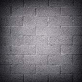image of cinder block  - Dark cinder block wall background - JPG