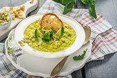foto of brussels sprouts  - Thick vegetable soup puree with Brussels sprouts - JPG