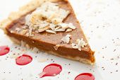 pic of pumpkin pie  - Fresh Pumpkin Pie with Berries Sauce - JPG
