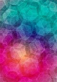 stock photo of octahedron  - Abstract geometrical background  - JPG