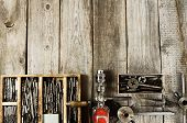 stock photo of tool  - Old working tools - JPG