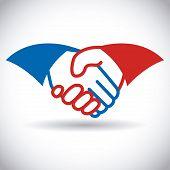 picture of handshake  - Handshake design  over white background vector illustration - JPG