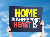 pic of soulmate  - Home is Where Your Heart Is card with sky background - JPG