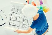 stock photo of interior decorator  - architecture - JPG