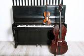 stock photo of cello  - Piano - JPG