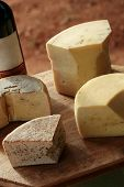 foto of meals wheels  - handmade cheese at the traditional farm in minas gerais brazil - JPG