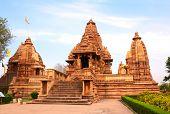 stock photo of khajuraho  - Lakshmana temple - JPG