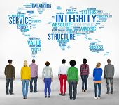 picture of honesty  - Integrity Honesty Sincerity Trust Reliability Concept - JPG