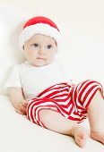 picture of santa baby  - baby girl as Santa Claus - JPG