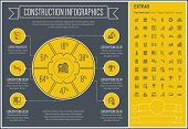 picture of more info  - Construction infographic template and elements - JPG